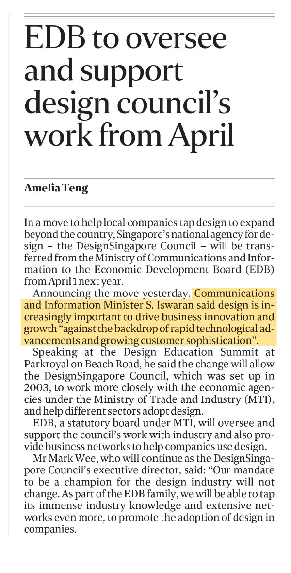 The Straits Times | Friday, November 2, 2018. Source: The Straits Times © Singapore Press Holdings Limited. Reprinted with permission.